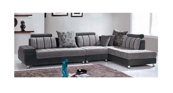 Divano con penisola moderno sofa salotto soggiorno ebay for Migliore marca divani