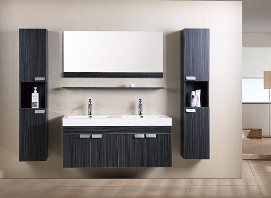Arredo bagno mobile doppio mobile bagno pensile wenge 39 da for Mobile bagno doppio lavabo