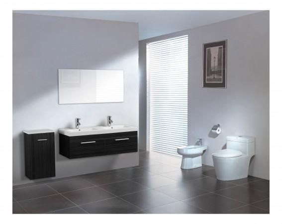 Arredo bagno mobile doppio mobile bagno pensile wenge da 120 cm