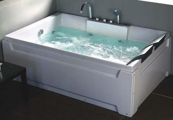 Vasche idromassaggio vasche vasca idromassaggio doppia bagno 185x123 16 getti c g home design - Vasca da bagno doppia ...