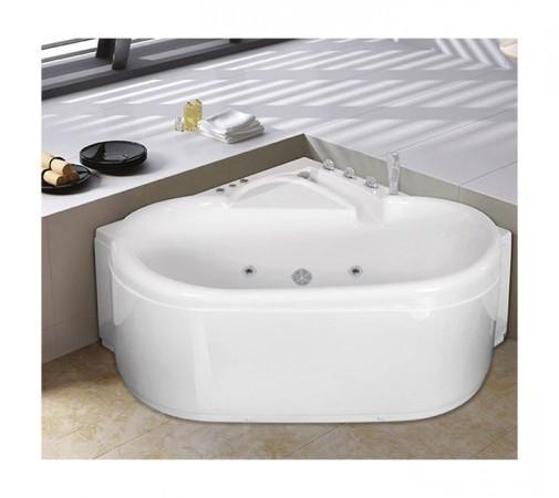 Vasche idromassaggio vasche vasca idromassaggio doppia pompa bagno 125x125 full 15get c g home - Vasca da bagno doppia ...