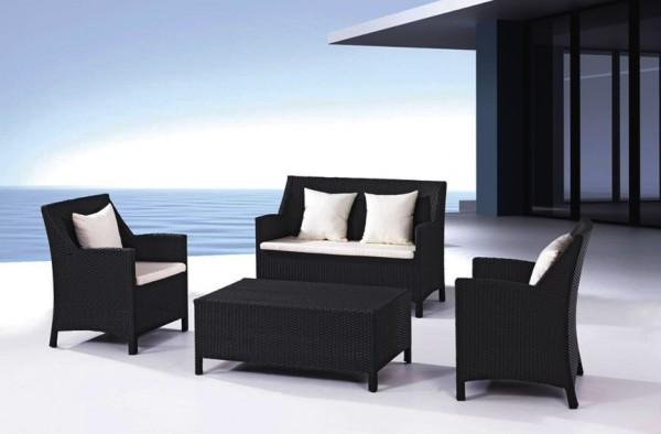 Arredamento esterno divani in rattan set divano rattan - Giardino moderno design ...