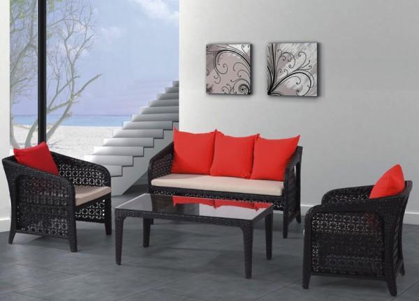 Arredamento esterno divani in rattan set divano rattan for Arredo salotto moderno