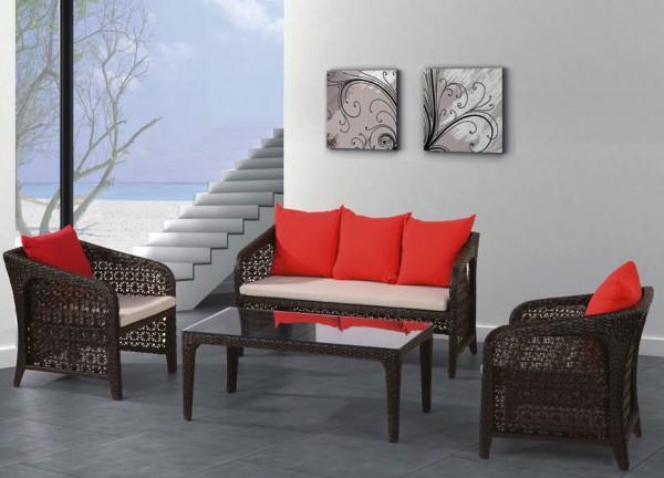 Arredamento esterno divani in rattan set divano rattan for Arredo giardino moderno