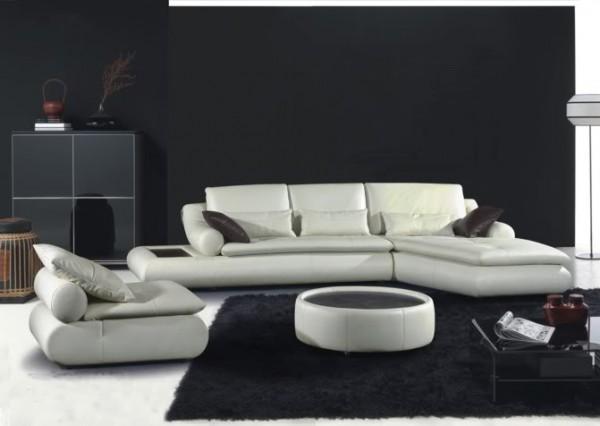 Divani soggiorno divani in pelle divano salotto pelle moderno sofa americano soggiorno c g - Divano in pelle moderno ...