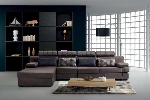 DIVANI SOGGIORNO DIVANI ANGOLARI DIVANO SALOTTO MEGA SOFA TESSUTO ANGOLARE - C&G Home design