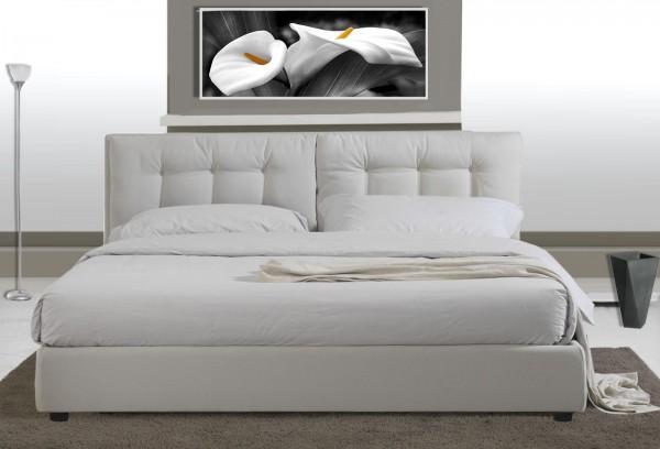 Letti matrimoniali letto matrimoniale in ecopelle moderno bianco c g home design - Letto bianco matrimoniale ...