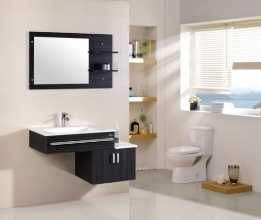 Arredo bagno mobile singolo mobile bagno pensile nero da 105 cm completo c g home design - Mobile pensile bagno ...
