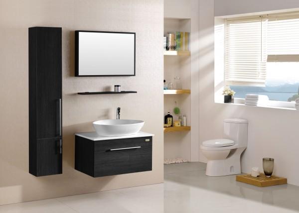 Arredo bagno mobile singolo mobile bagno pensile wenge 39 da for Mobili bagno 80 cm