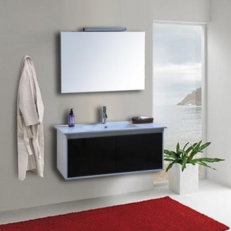 Arredo bagno mobile singolo mobile bagno pensile bianco for Mobile pensile bagno