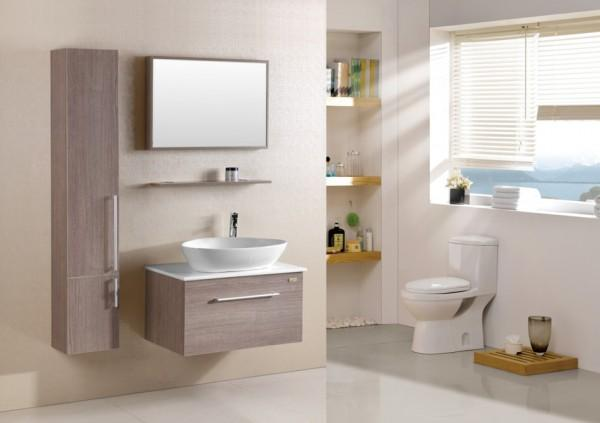 Arredo bagno mobile singolo mobile bagno pensile acero da for Mobili bagno 80 cm
