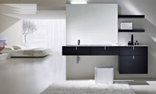 Arredo bagno mobile singolo mobile bagno pensile nero da 120 cm ...