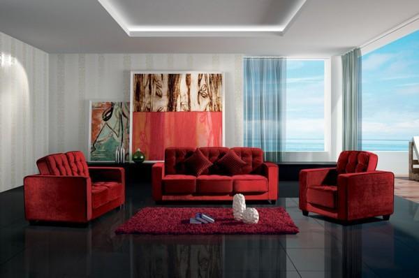 Colore Pareti Soggiorno Divano Rosso ~ Idee per il design della casa