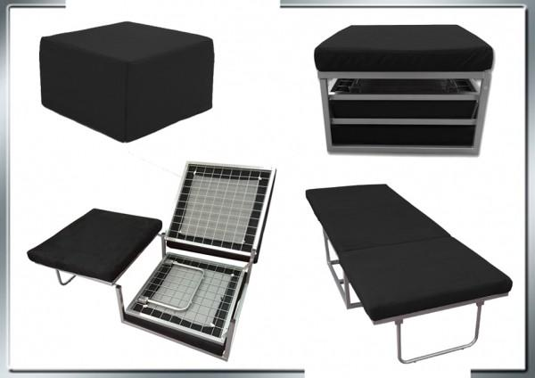 Pouf letto pouf letto reclinabile pouff letto nero c g - Pouf con letto ikea ...