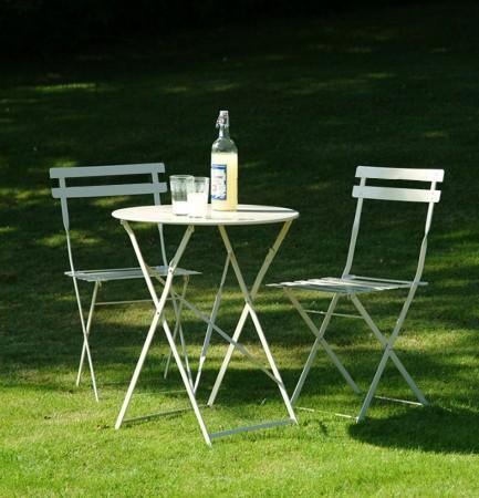 Arredamento esterno tavoli giardino set tavolo da giardino pieghevole 2 sedie in metallo c g - Set tavolo e sedie da esterno ...