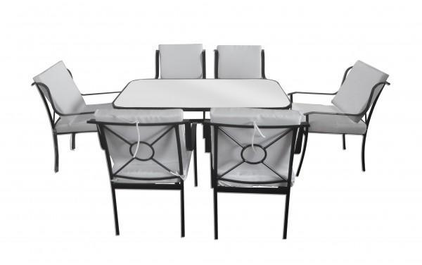 Arredamento esterno tavoli giardino set tavolo da giardino - Sedie per tavolo in vetro ...