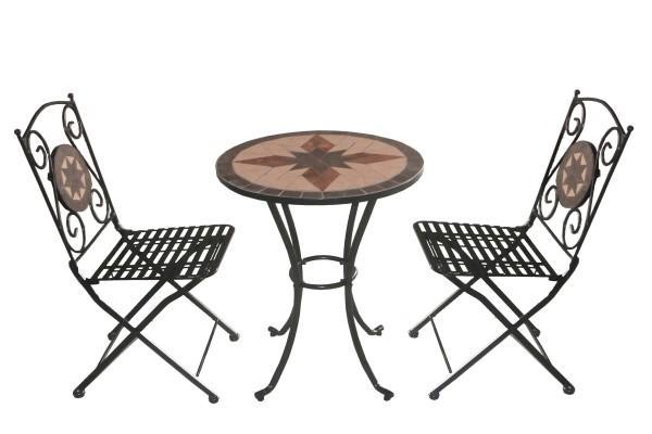 Arredamento esterno tavoli giardino set tavolo mosaico da giardino pieghevole 2 sedie c g home - Set tavolo e sedie da esterno ...