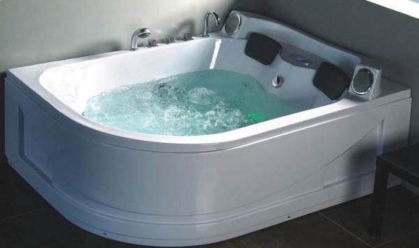 Vasche idromassaggio vasche vasca idromassaggio doppia bagno 180x140 19 getti c g home design - Vasche da bagno grandi ...