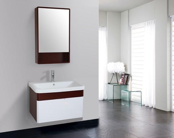 Arredo bagno mobile singolo mobile bagno pensile bianco da - Pensile specchio bagno ...