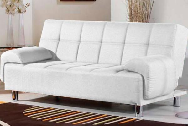 Divani letto divani ecopelle divano letto reclinabile for Salotto moderno bianco