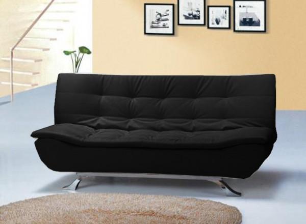 Divani letto divani ecopelle divano letto reclinabile ecopelle nero ufficio salotto c g - Divano ecopelle nero ...