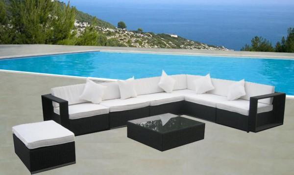 Arredamento esterno divani in rattan set divano rattan - Set divano giardino ...