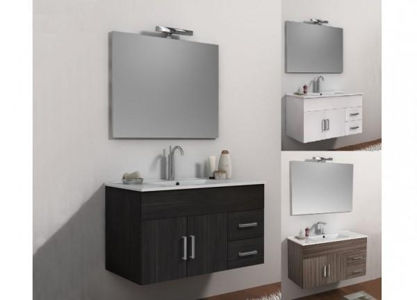 Arredo bagno mobile singolo mobile bagno sospeso bianco wenge o