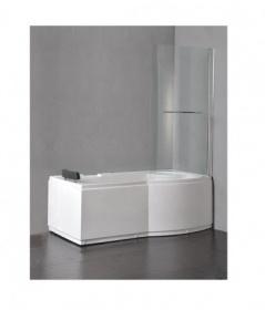 Vasche idromassaggio vasche vasca bagno 170x75 in abs rinforzato anta vetro doccia c g home - Vetro vasca bagno ...