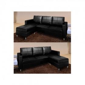 Divani soggiorno divani angolari divano salotto angolare ecopelle nero c g home design - Divano ecopelle nero ...