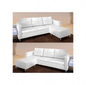 Divani soggiorno divani angolari divano salotto angolare ecopelle bianco c g home design - Divano ecopelle angolare ...