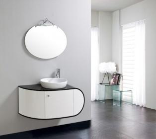 Arredo Bagno Mobile Singolo Mobile Bagno Completo Pensile 100cm Bianco Nero C G Home Design