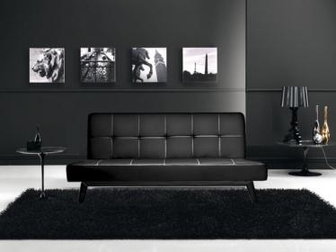 Divani letto divani ecopelle divano letto reclinabile ecopelle nero c g home design - Divano ecopelle nero ...