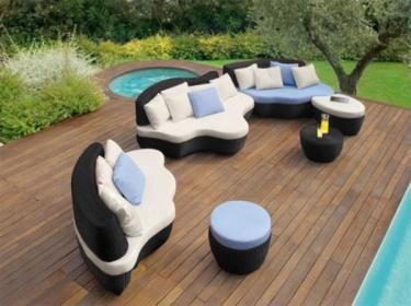 Arredamento esterno divani in rattan set divano rattan giardino
