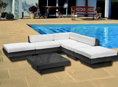 Arredamento esterno divani in rattan set divano rattan giardino esterno tavolo luxus s1 c g - Divani x esterno ...