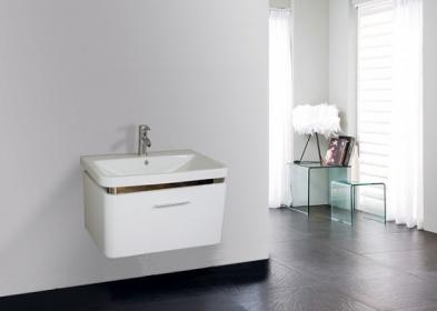 ARREDO BAGNO MOBILE SINGOLO MOBILE BAGNO PENSILE BIANCO DA 70 CM COMPLETO - C&G Home design
